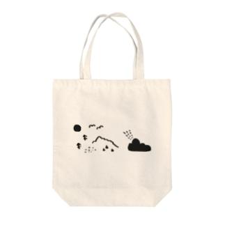 やまびこ Tote bags