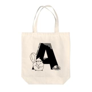 ふくよかオカメのイニシャルグッズ【A】 Tote bags