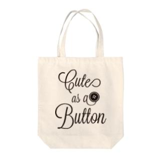 Cute as a Button Tote bags