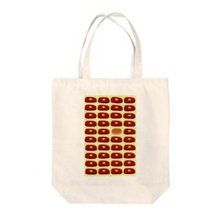 ビフテキ・まちがいさがし(緑) Tote bags