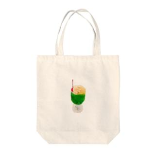 くりぃむそーだ Tote bags