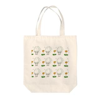花を愛でるほこりの分身 Tote bags