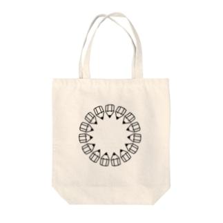 えんぴつの輪_黒 Tote bags