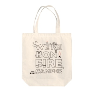 We're Bonfire Camper Tote bags