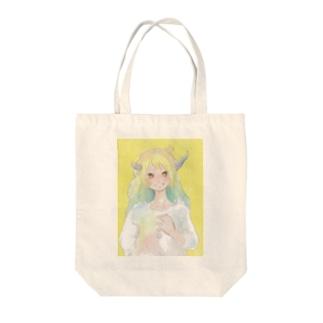 可愛い女子 Tote bags