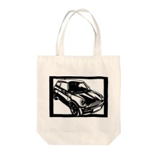 BMW mini切り絵デザイン Tote bags
