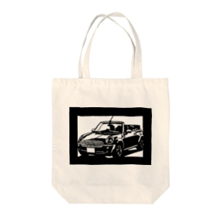 BMW miniカブリオレ切り絵デザイン Tote bags