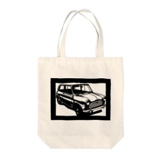 モーリスminiマイナーMk1切り絵デザイン Tote bags