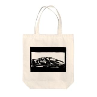 マクラーレンMP4切り絵デザイン Tote bags