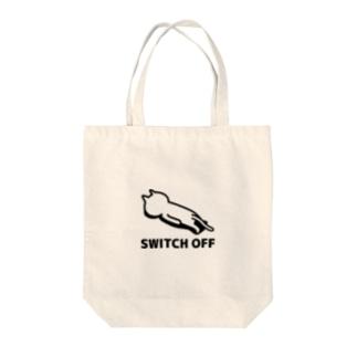スイッチオフネコ Tote bags
