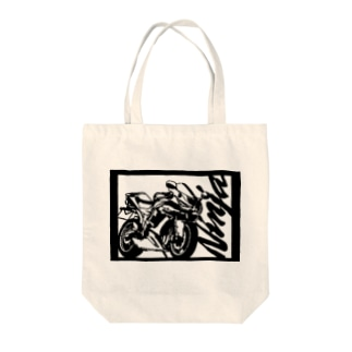 KAWASAKI NINJA切り絵デザイン Tote bags