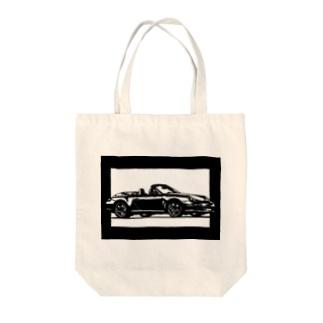 ポルシェ911カレラ切り絵デザイン Tote bags