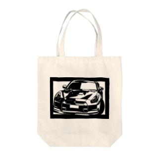 NISSAN R35 GT-R切り絵デザイン Tote bags