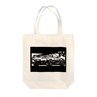 NISSAN R35 GT-R切り絵デザイン2 Tote bags