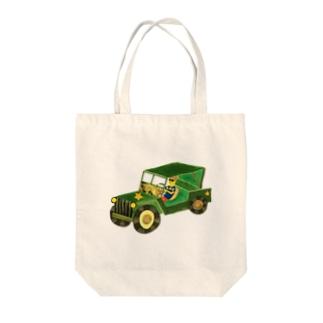 ドライブ Tote bags
