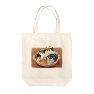 猫・うさぎ・ハムスター鍋 Tote bags