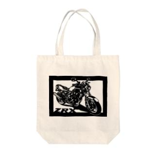 KAWASAKI ZRX400切り絵デザイン Tote bags