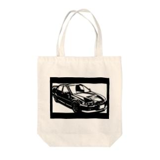 HONDA アコードユーロ切り絵デザイン Tote bags