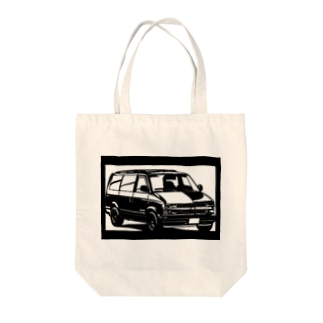CHEVROLET アストロ切り絵デザイン Tote bags