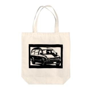 CHEVROLET アストロハイルーフ切り絵デザイン Tote bags