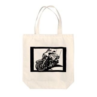 HARLEY-DAVIDSON エレクトラグライド切り絵デザイン Tote bags