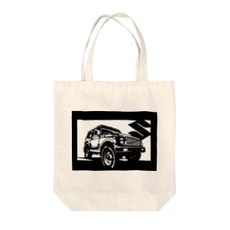 SUZUKI ジムニー JA切り絵デザイン3 Tote bags