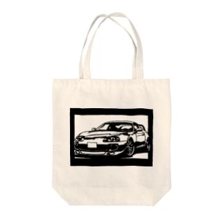 TOYOTAスープラJZA80 切り絵デザイン1 Tote bags