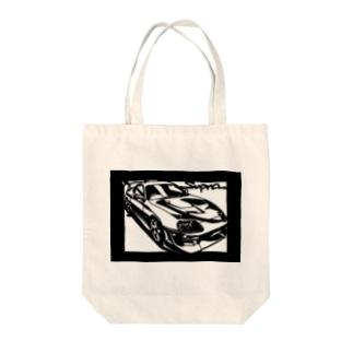 TOYOTAスープラJZA80 切り絵デザイン2 Tote bags