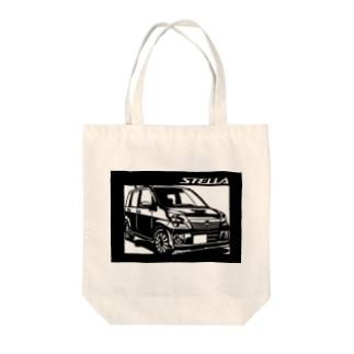 SUBARU ステラ切り絵デザイン Tote bags