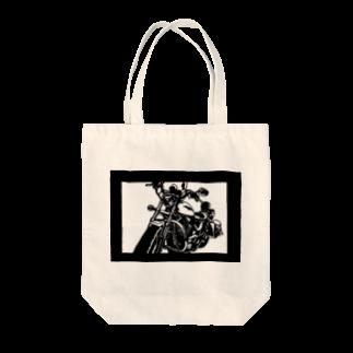 切り紙屋のHARLEY-DAVIDSON スポーツスターXL1200L切り絵デザイン Tote bags