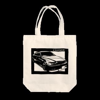 切り紙屋のTOYOTAチェイサーX100 切り絵デザイン2 Tote bags