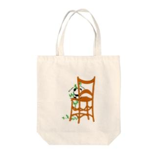 モシャモシャ食う子パンダ Tote bags