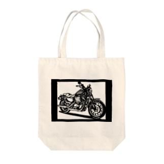 HARLEY-DAVIDSON スポーツスターXL883R切り絵デザイン Tote bags