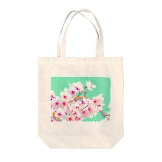 ピンキーきゅんきゅんさくら Tote bags