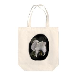 A アルパカ Tote bags