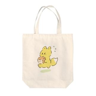 お急ぎのキツネ Tote bags