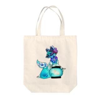 色狐(青) Tote bags