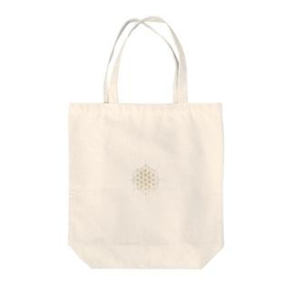 flower of Life image ラウンド Tote bags
