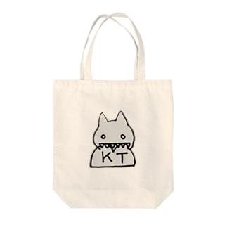 ケツネコ Tote bags