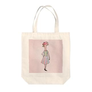 スプリング鳥子 Tote bags