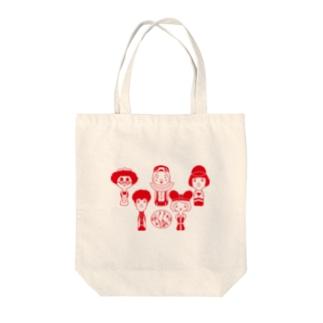 雑貨屋ヨコイマウの劇団どくんご「誓いはスカーレット Θ(シータ)」 赤 Tote bags