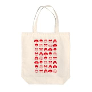 雑貨屋ヨコイマウの劇団どくんご「誓いはスカーレット Θ(シータ)」 ずらり赤  Tote bags