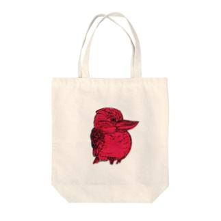 ワライカワセミ Tote bags