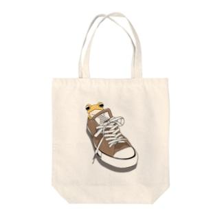 靴とミヤコヒキガエル Tote bags