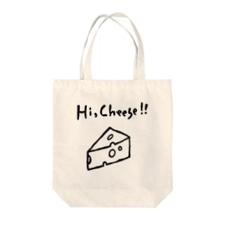 Hi,Cheese!! Tote bags