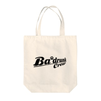 Ba'drunk ロゴデザインVer.2(BLK) Tote bags