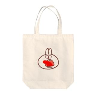 びっくりウサギ Tote bags