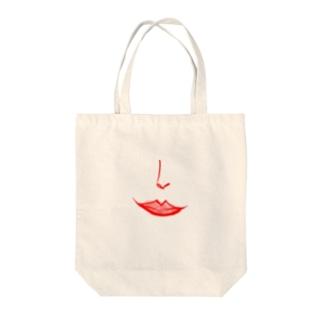 赤い唇。 Tote bags