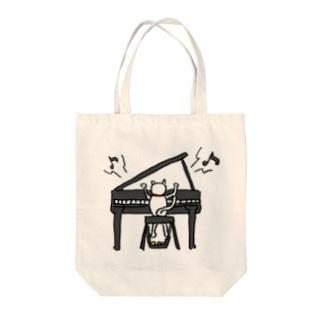 ピアノねこ Tote Bag