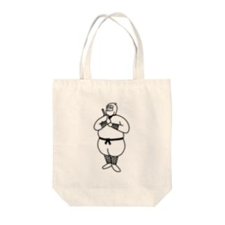 ぽちゃにん Tote bags